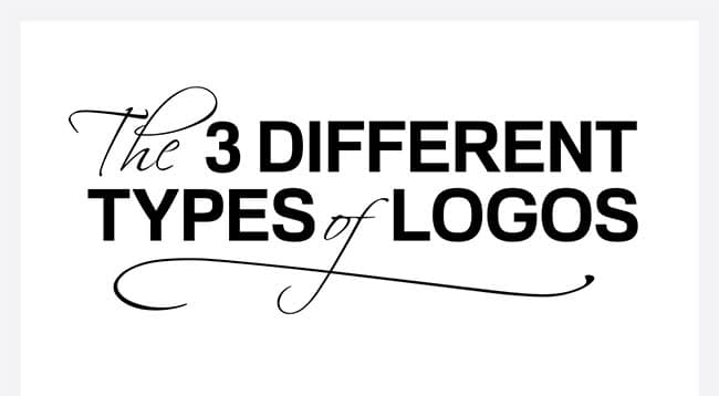 The Three Different Types of Logos [Infographic]